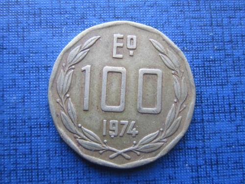 Монета 100 песо Чили 1974