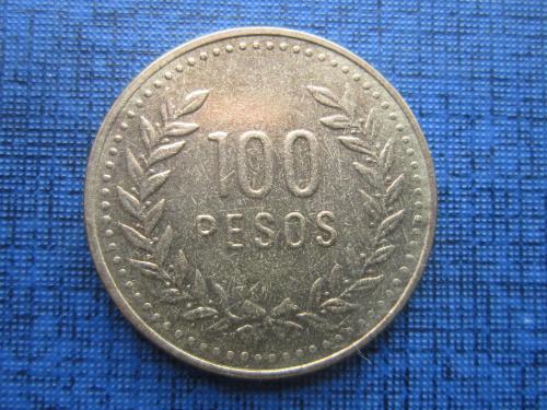 Монета 100 песо Колумбия 1993
