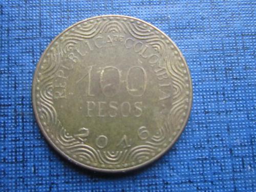 Монета 100 песо Колумбия 2016