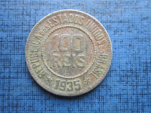 Монета 100 рейс (реалов) Бразилия 1935