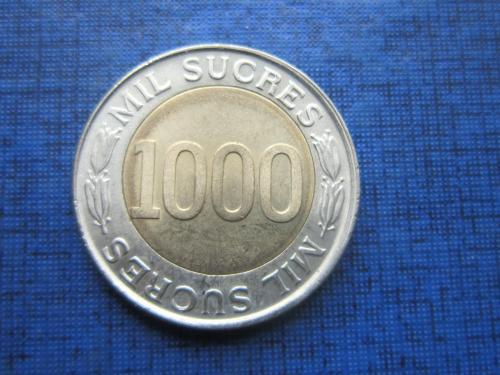 Монета 1000 сукре Эквадор 1997
