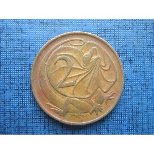 Монета 2 цента Австралия 1974 фауна ящерица