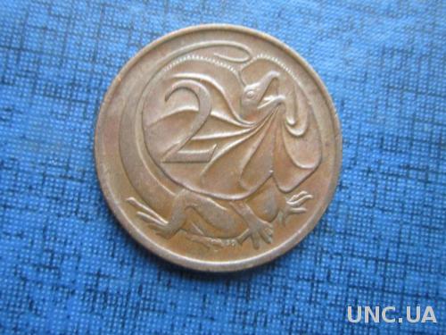 Монета 2 цента Австралия 1976 фауна ящерица