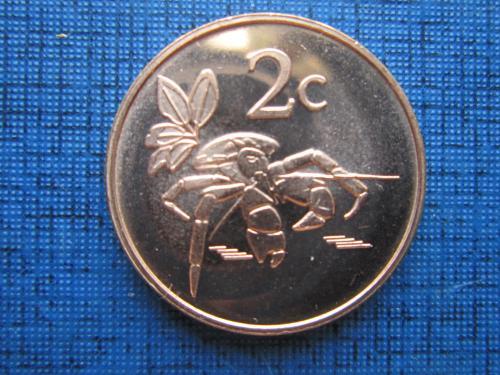 Монета 2 цента Токелау 2017 фауна краб состояние
