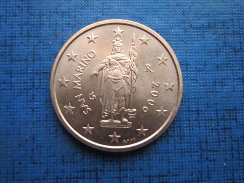 Монета 2 евроцента Сан-Марино 2006