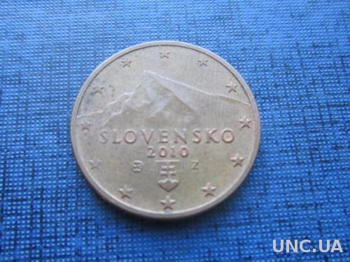 монета 2 евроцента Словакия 2010