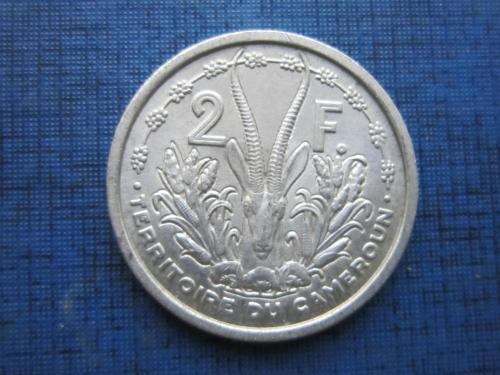 Монета 2 франка Камерун Французский 1948 фауна антилопа состояние очень редкая