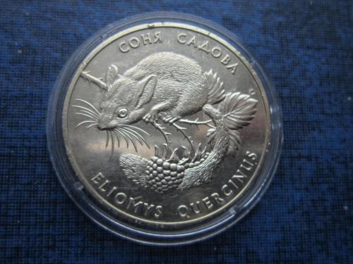 Монета 2 гривны Украина 1999 фауна Соня садова