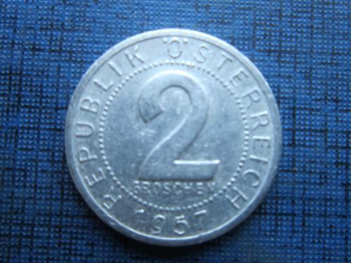 Монета 2 грошен Австрия 1957