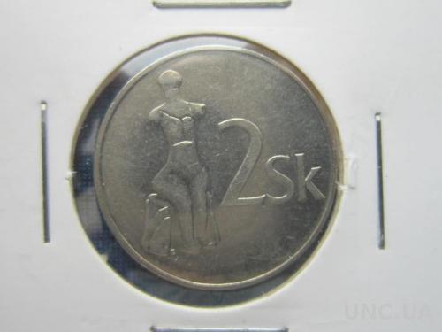 монета 2 кроны Словакия 1993