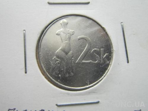 монета 2 кроны Словакия 1995