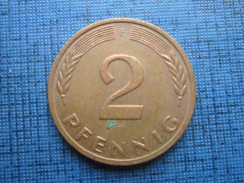 Монета 2 пфеннига ФРГ Германия 1978 F