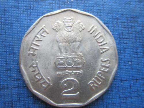 Монета 2 рупии Индия 1995 Бомбей состояние