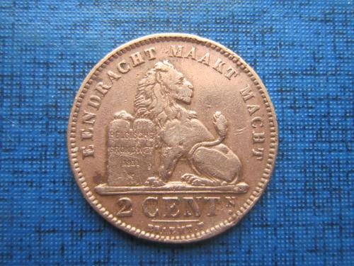 Монета 2 сантима Бельгия 1911 Belgen