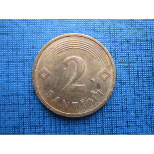 Монета 2 сантима Латвия 1992