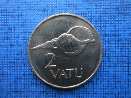 Монета 2 вату Вануату 2002 фауна раковина состояние