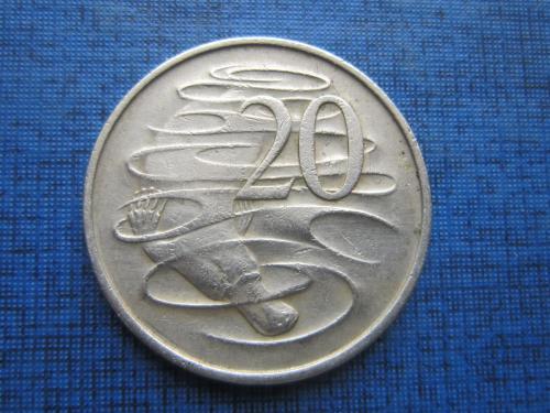 Монета 20 центов Австралия 1967 фауна утконос