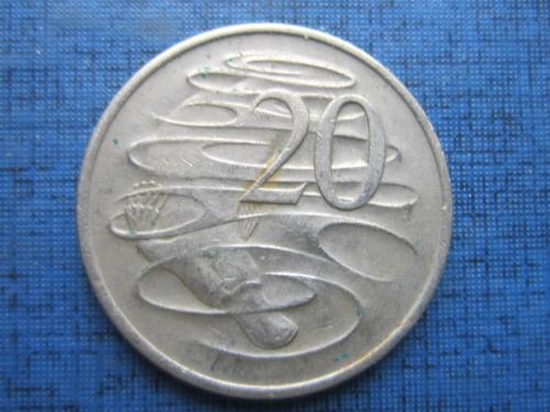 Монета 20 центов Австралия 1971 фауна утконос