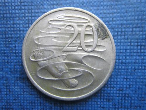 Монета 20 центов Австралия 1975 фауна утконос