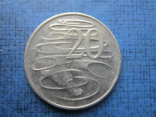 Монета 20 центов Австралия 2008 фауна утконос