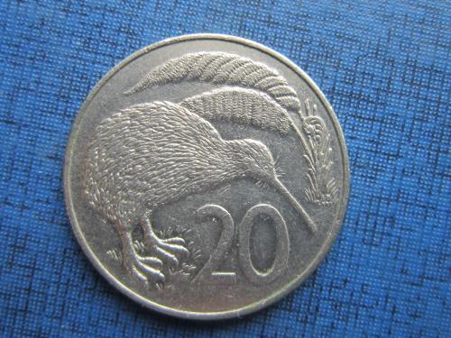 монета 20 центов Новая Зеландия 1986
