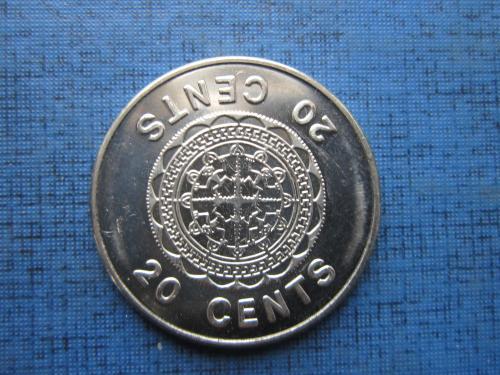 Монета 20 центов Соломоновы острова Британские 2005 состояние