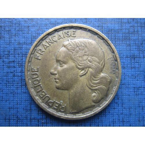 Монета 20 франков Франция 1950 В фауна петух Georges Guiraud 3 пера