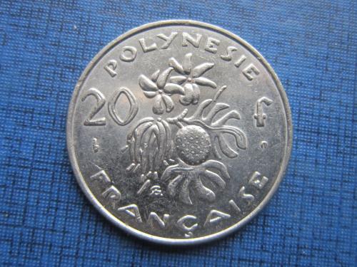 Монета 20 франков Французская Полинезия 2001