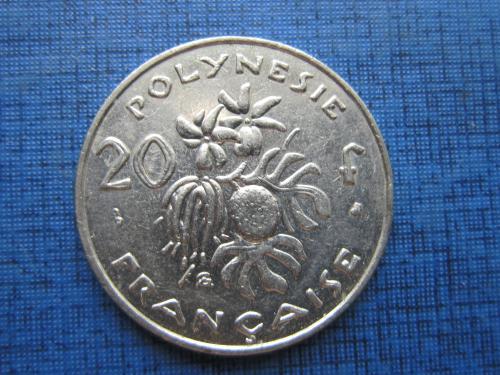 Монета 20 франков Полинезия Французская 2000