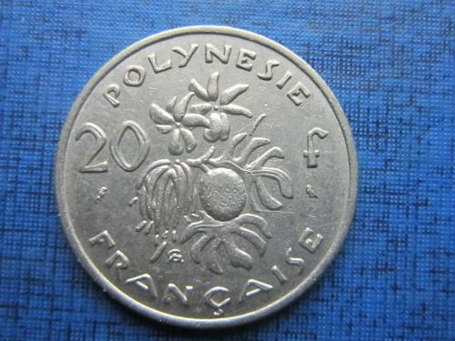 Монета 20 франков Полинезия Франзузская 1967