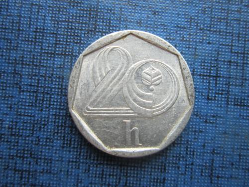 Монета 20 геллеров Чехия 1994