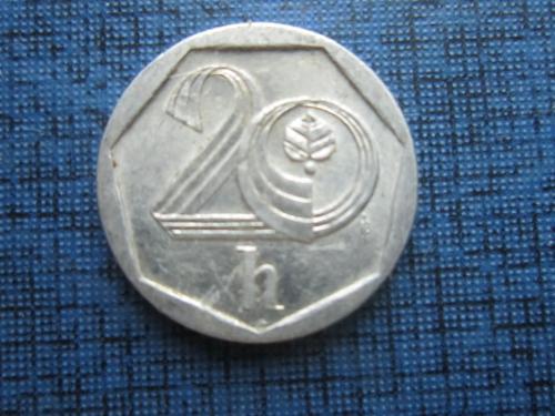 Монета 20 геллеров Чехия 2000