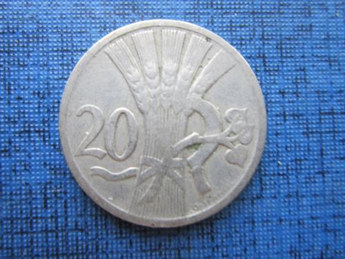 Монета 20 геллеров Чехословакия 1924