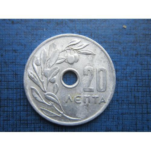 Монета 20 лепта Греция 1969 оливы