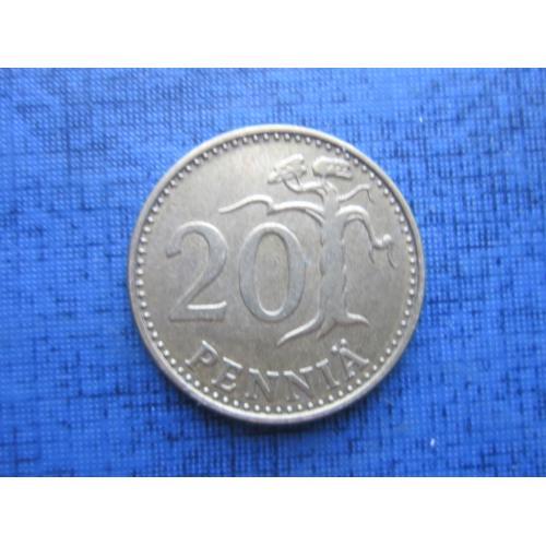 Монета 20 пенни Финляндия 1973
