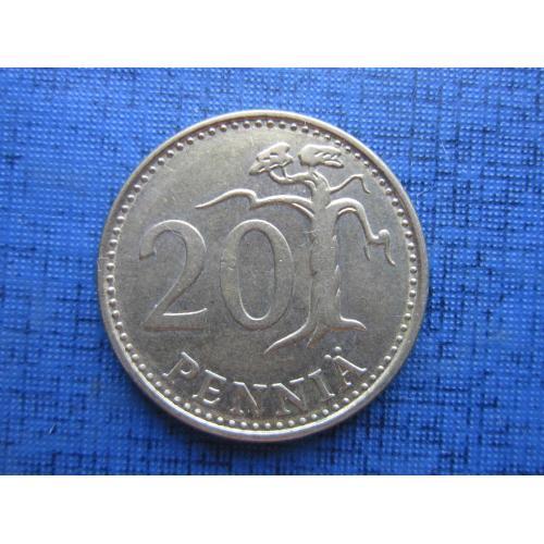 Монета 20 пенни Финляндия 1982