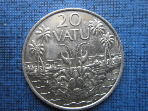 Монета 20 вату Вануату 1983 фауна краб