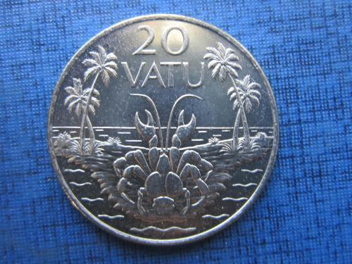 Монета 20 вату Вануату 1999 фауна краб состояние