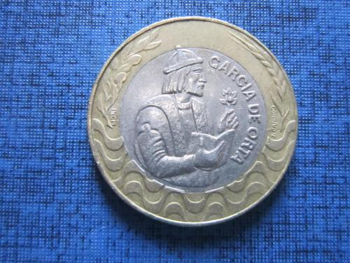 Монета 200 ишкуду Португалия 1991 Гарсия де Орта медицина