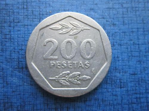 Монета 200 песет Испания 1986