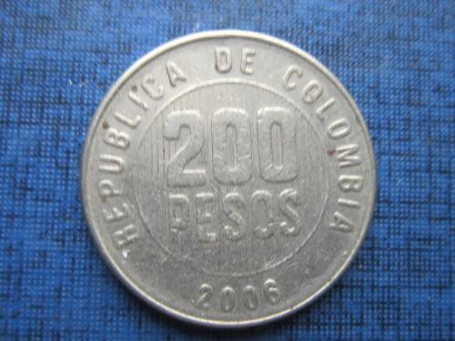Монета 200 песо Колумбия 2006