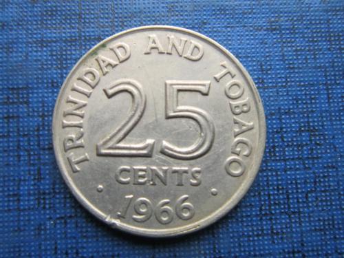 Монета 25 центов Тринидад и Тобаго 1966
