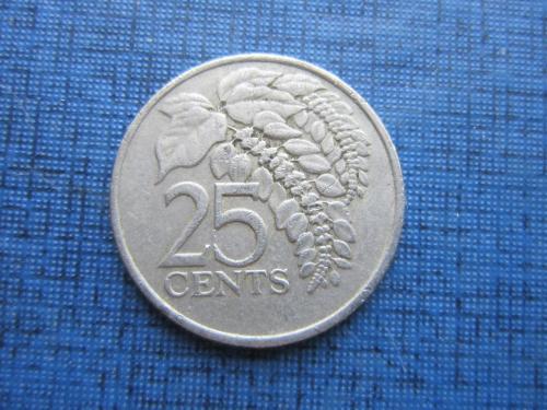 Монета 25 центов Тринидад и Тобаго 1979