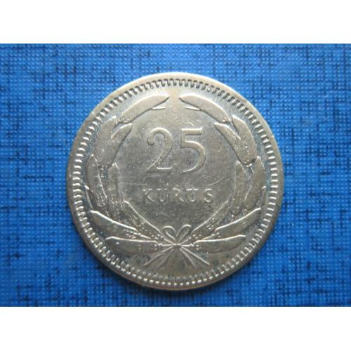 Монета 25 куруш Турция 1955