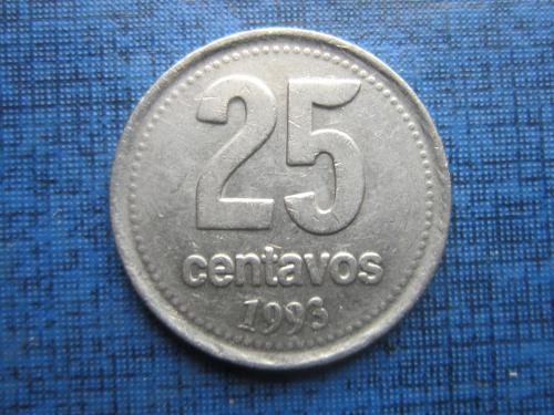 Монета 25 сентаво Аргентина 1993