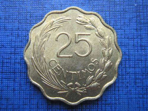 Монета 25 сентимо Парагвай 1953 фауна лев