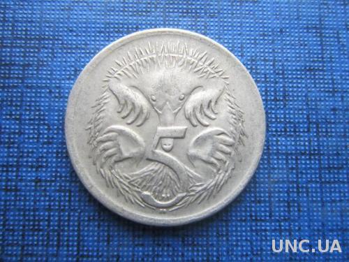 Монета 5 центов Австралия 1967 фауна