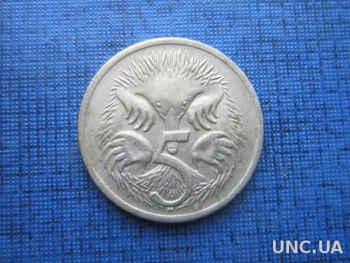 Монета 5 центов Австралия 1969 фауна