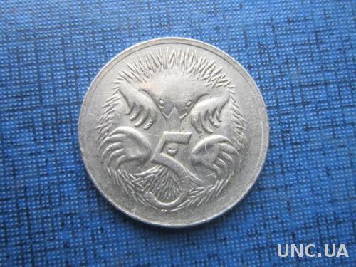 Монета 5 центов Австралия 1975 фауна