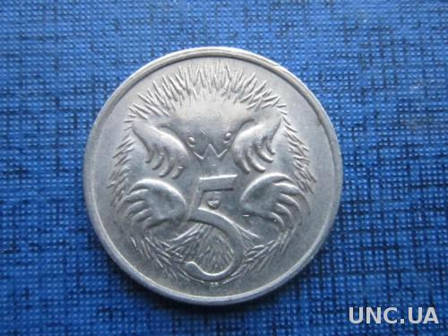 монета 5 центов Австралия 1982 фауна